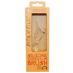 Jack n' Jill, Silicone Tooth & Gum Brush, Stage 3, 1 Brush