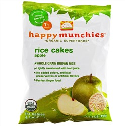 Nurture Inc. (Happy Baby), happy munchies, Rice Cakes, Apple, 1.4 oz (40 g)