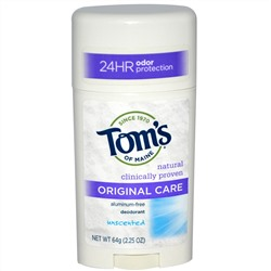 Tom's of Maine, Original Care Deodorant, Unscented, 2.25 oz (64 g)