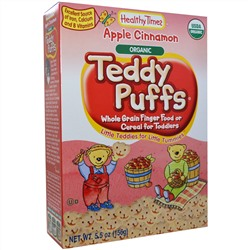 Healthy Times, Organic Teddy Puffs, Apple Cinnamon, 5.5 oz (156 g)