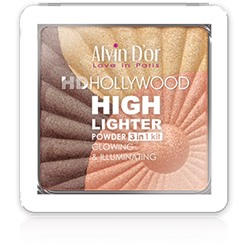 Alvin D`or Пудровый хайлайтер (тон 03) 3х1 Glow Illuminating Hd Hollywod HL-01