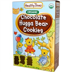 Healthy Times, Organic Hugga Bear Cookies, Chocolate, 6.5 oz (182 g)