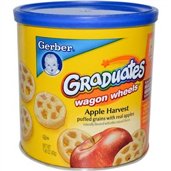 Gerber, Graduates Finger Foods, Apple Harvest Wagon Wheels, 1.48 oz (42 g)