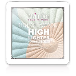 Alvin D`or Пудровый хайлайтер (тон 01) 3х1 Glow Illuminating Hd Hollywod HL-01