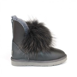 Угги с мехом лисы Ugg Fox 2 Gen Metallic Grey