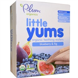 Plum Organics, Little Yums, Organic Teething Wafers, Blueberry & Fig, 6 Packs, 0.5 oz (14.1 g) Each