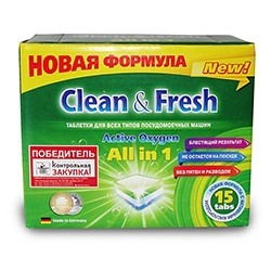 "Таблетки для ПММ ""Clean&Fresh Allin1  (mini) 15 штук"