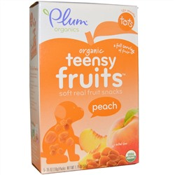 Plum Organics, Tots, Teensy Fruits, Peach, 5 Packs, .35 oz (10 g) Each