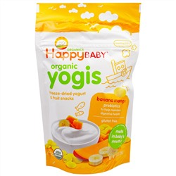 Nurture Inc. (Happy Baby), Organic Yogis, Freeze Dried Yogurt & Fruit Snacks, Banana Mango, 1 oz (28 g)
