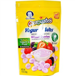 Gerber, Graduates, Yogurt Melts, Mixed Berries, 1.0 oz (28 g)