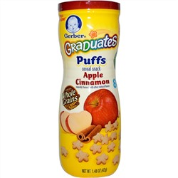 Gerber, Graduates Puffs, Apple Cinnamon, 1.48 oz (42 g)