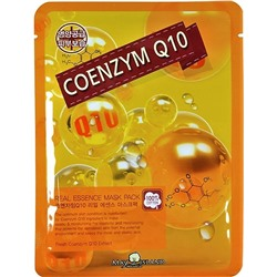 KR/ MAY ISLAND Real Essence Mask Pack Coenzyme Q10 Маска-салфетка для лица Коэнзим, 25мл