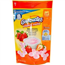 Gerber, Graduates, Yogurt Melts, Strawberry, 1.0 oz (28 g)