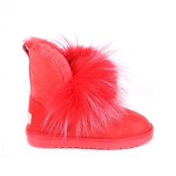 Угги с мехом лисы Ugg Fox 2 Gen Red