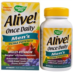 Nature's Way, Alive! Once Daily, Men's Multi-Vitamin, 60 Tablets
