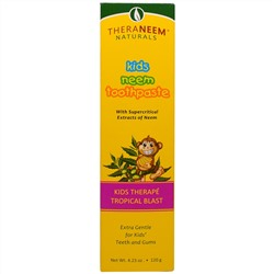Organix South, TheraNeem Naturals, Kids Neem Toothpaste, Tropical Blast, 4.23 oz (120 g)