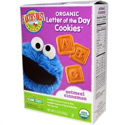 Earth's Best, Organic Letter of the Day Cookies, Oatmeal Cinnamon, 5.3 oz (150 g)
