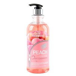 FOODaHOLIC PEACH ESSENTIAL BODY CLEANSER - гель для душа с экстрактом персика 750 мл.