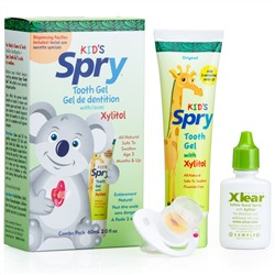 Xlear, Spry, Kid's Tooth Gel, with Xylitol, Combo Pack, 2.0 fl oz (60 ml)