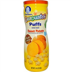 Gerber, Graduates, Puffs Cereal Snack, Sweet Potato, Crawler, 1.48 oz (42 g)
