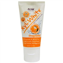 Now Foods, Xyli White, Kid's Toothpaste Gel, Orange Splash, 3 oz (85 g)