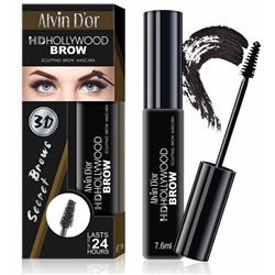 Alvin D`or МВ-1Тушь д/бровей HD Hollywood Brow (тон 01C medium brown)